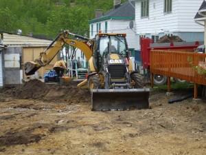 Enlèvement du sol contaminé
