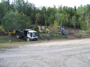 Enlèvement du sol contaminé d'un terrain vague