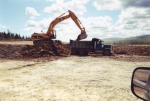 Excavation dans le matériel existant