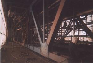 Nettoyage de la structure d'acier