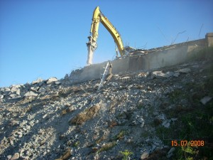 La démolition de l'ancien viaduc