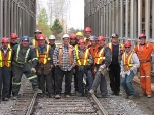 L'équipe en charge de la construction