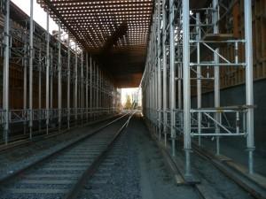 Installation des échafauds et des plateformes