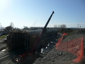 Viaduc en construction
