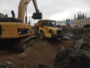 Excavation du matériel