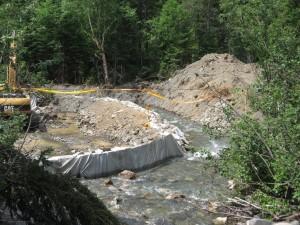 Déviation du cours d'eau